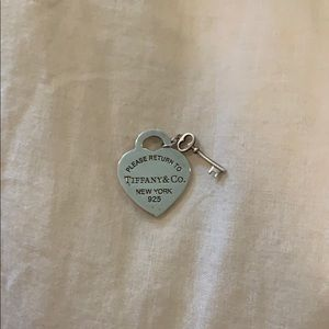 Tiffany Heart Tag & Key Pendant